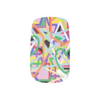 Nail Art: Chaotic Bliss Minx Nail Art