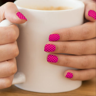 Nail Art Dots and Checked Pattern