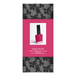 Nail Salon Services Price List {Hot Pink} Rack Card