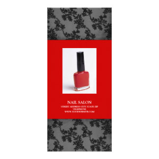 Nail Salon Services Price List {Red} Rack Card