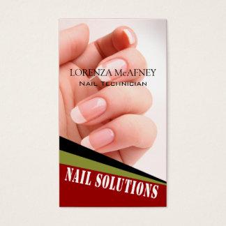 Nail Solutions - Manicure Pedicure Spa Technician Business Card
