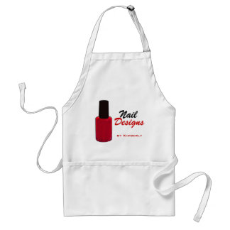 Nail Technician Red Accents Business Apron