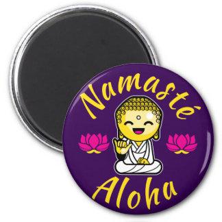 Namaste Aloha hand sign Buddha Humour 6 Cm Round Magnet