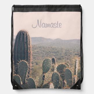 Namaste - Arizona Cacti | Drawstring Backpack