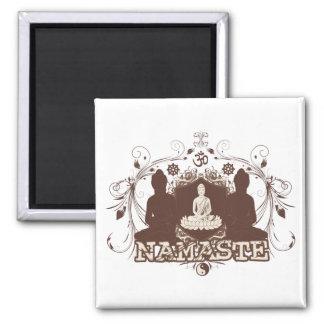 Namaste Buddha Square Magnet