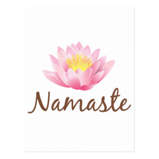 Namaste Lotus Flower Yoga Postcard