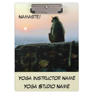 Namaste Meditation Yoga Monkey in India at Sunset Clipboard