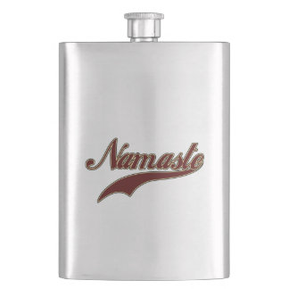 Namaste Stylish Red Burgundy Hip Flask