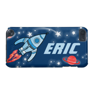 Name 4 letter rocket space blue case iPod touch 5G cover