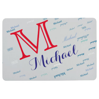 name and initial custom floor mat