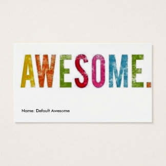 Name: Default Awesome Business Card