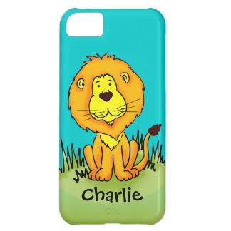 Name kid lion aqua yellow iphone case iPhone 5C case