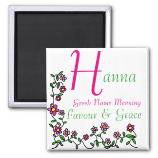 Name Magnet Meaning, Hanna, Favour & Grace
