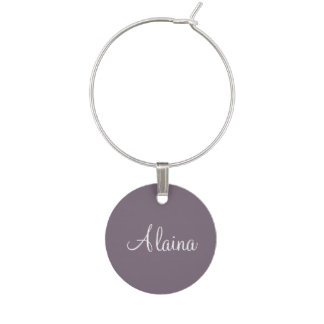 Name Old Lavender Classy Color Matching Wine Charm