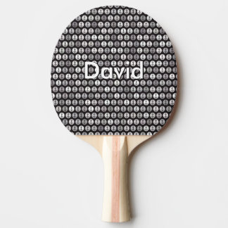 Name on Anchors Pattern Ping Pong Paddle