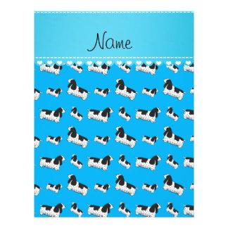 Name sky blue english cocker spaniel dog 21.5 cm x 28 cm flyer