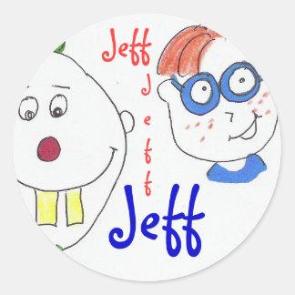 name sticker : Jeff