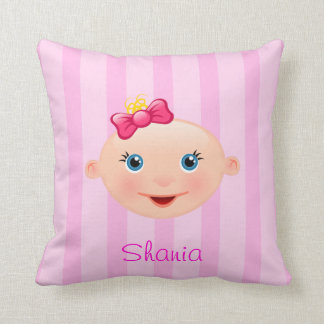"""""""Name This!"""" Baby Face Pink - Pillow"""
