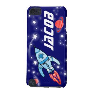 Named 5 letter space rocket blue boys ipod case