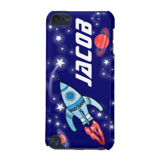 Named 5 letter space rocket blue boys ipod case iPod touch (5th generation) cover