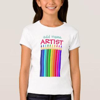 Named Artist: Colour Crayon or Pencil T-Shirt