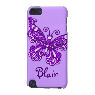 Named butterfly purple ipod case iPod touch (5th generation) case