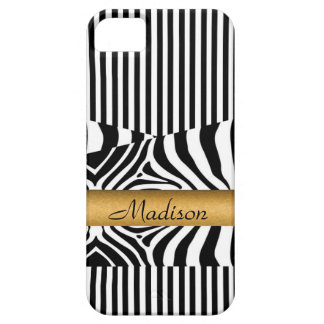 Named Zebra and Stripes iPhone 5 Cover