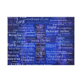 Names and titles of Jesus BLUE CROSS PRINT