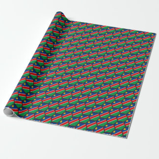 Namibia Flag Honeycomb Wrapping Paper