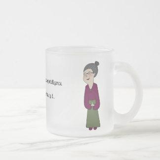 Nana Néné, intelligence Frosted Glass Mug