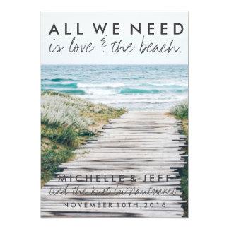Nantucket Beach Eloped Wedding Announcement