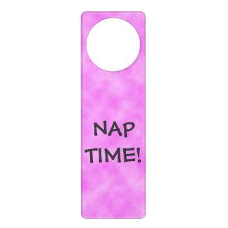 NAP TIME Pinkish Purple Door Hanger
