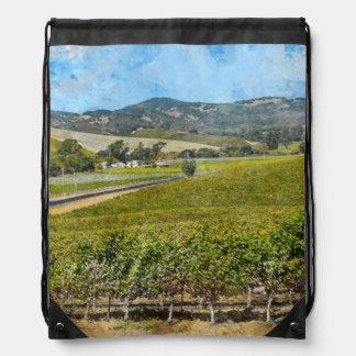 Napa Valley California Drawstring Bag