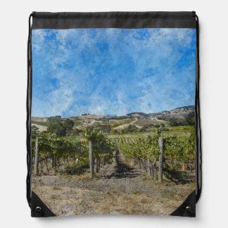 Napa Valley Vineyard Drawstring Bag