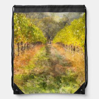 Napa Valley Vineyard in Fall Drawstring Bag