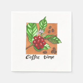 Napkins for coffee lovers disposable napkin