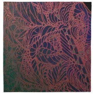 Napkins-Zentangle Web in Red Napkin