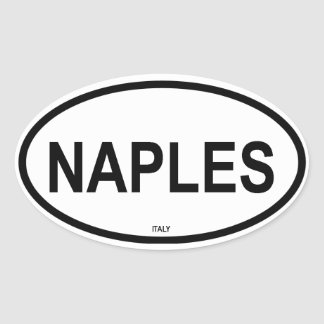 NAPLES OVAL STICKER