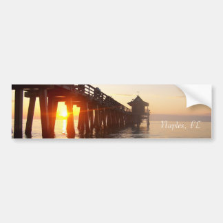 Naples, pier bumper sticker