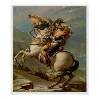 Napoleon Crossing the Alps 1800 Art Print Poster