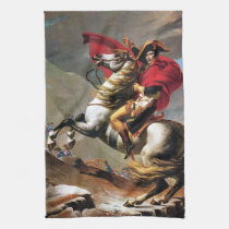 Napoleon Crossing the Alps Kitchen Towel