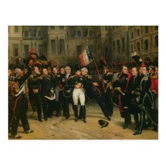Napoleon I  Bidding Farewell to the Imperial Postcard