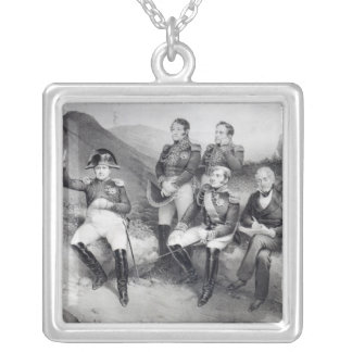 Napoleon I Dictating Memoirs to Emmanuel Las Silver Plated Necklace