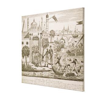 Napoleon I  Landing in Alexandria, 2nd July 1798 Canvas Print
