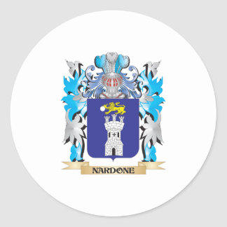 Nardone Coat of Arms - Family Crest Round Sticker
