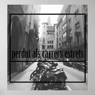 Narrow streets poster