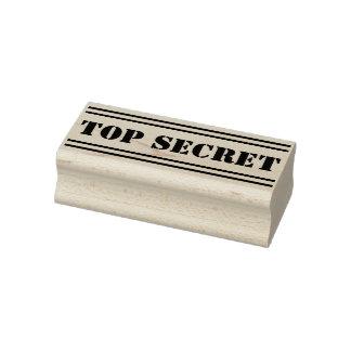 Narrow Stripes black + your Message: TOP SECRET Rubber Stamp