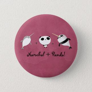 Narwhal plus Panda! 6 Cm Round Badge