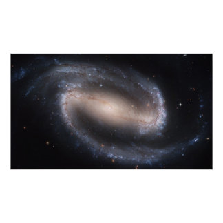 NASA - Barred Spiral Galaxy NGC1300 Print