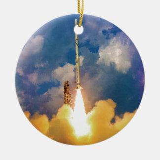 NASA Scout Rocket Launch Liftoff Christmas Ornament